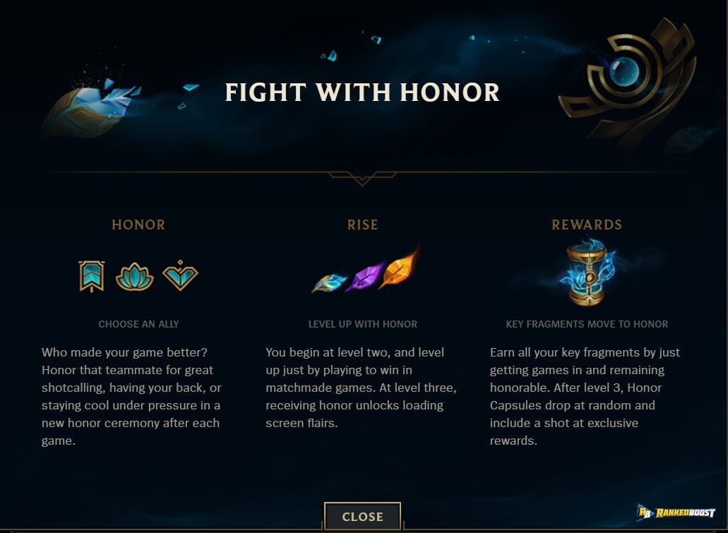 League Of Legend Honor Rewards LoL Season 8 Honor Update