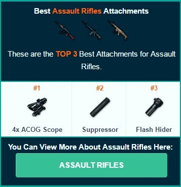 PlayerUnknowns Battlegrounds Attachments What They Do