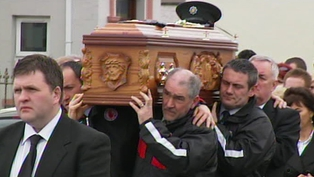 Beragh - Mickey Harte helped to carry the coffin