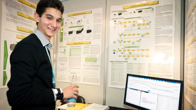 Alexander Amini's project was an analysis of a tennis player's movements (Pic: European Commission)