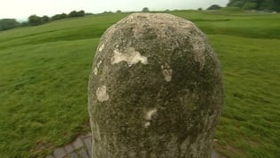 The stone was struck, possibly with a hammer, at 11 places, on all four of its face