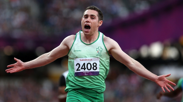 Jason Smyth set a world record time of 10.46 in the Olympic Stadium