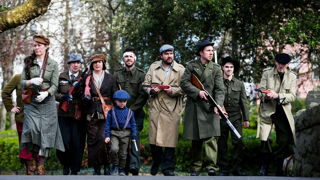 People wear costume for the event at St Stephen's Green in Dublin