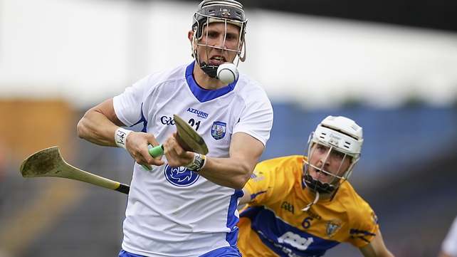 62 mins Waterford 1-18 Clare 0-15Brendan Buglar engineers a bit of space and lays off to Conor Cleary but his long-range effort is off target. Down at the other end Maurice Shanhan wins possession under pressure and gives the ball to the inspirational Moran who claims his third point of the game. Can seemingly play anywhere.
