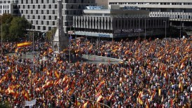 Image result for Demonstrations in Brussels for Spanish Unity