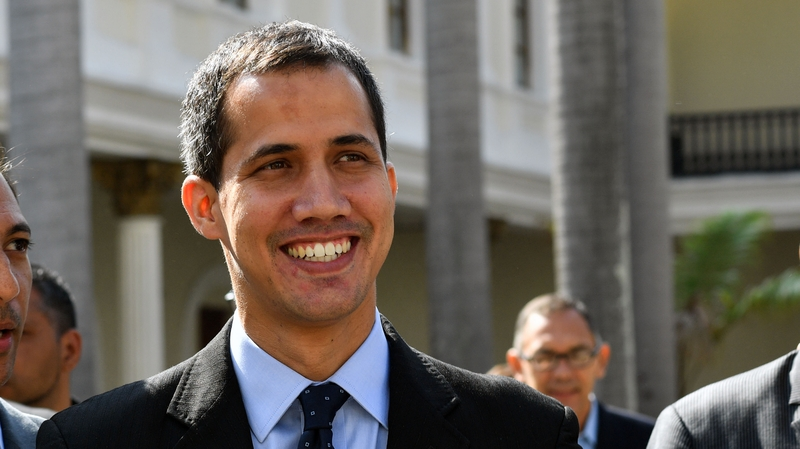 Opposition leader Juan Guaido declared himself interim president