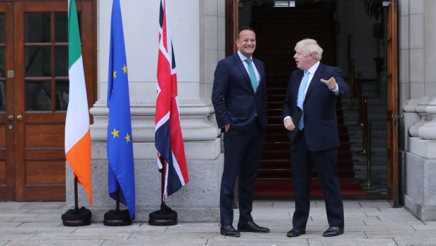 The two leaders met in Dublin last month