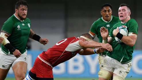 Ireland recorded a bonus point win, but not in emphatic fashion