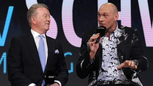 Frank Warren is part of Tyson Fury's promotional team