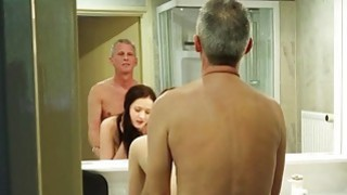 Big boobs and young pussy for lucky old man porn image