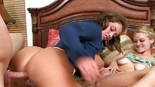 Eva Notty threeway action with Allie Rae porn image