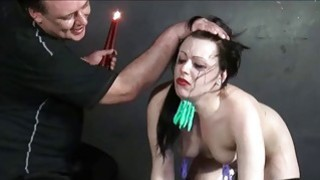 Humiliated slave Isabel Deans pegged and punished porn image