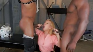 Blonde MILF Cheri Deville fucked by two BBC's porn image