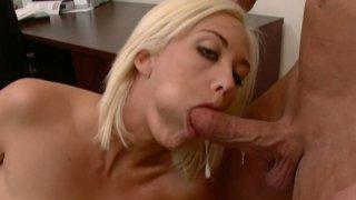 Slutty blonde Jenny Hendrix enjoys anal fuck porn image