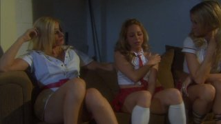 Impressive girlies Jessica Drake, Lindsey Meadows, Darryl Hanah eat each other's pussies with delight porn image