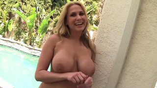 Amazingly shaped Alanah Rae poses on a cam and later_gives a blowjob to Sledge Hammer porn image