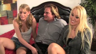 Two_kinky_whores_Alana_Evans_and_Allie_James_seduce_Evan_Stone_and_give_him_a_head porn image