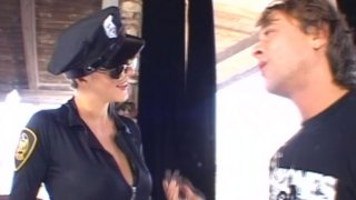 Whorish police woman Roxanne Hall gets screwed hard doggy style porn image
