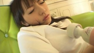 Miku Fujisawa touches her tight cunt through her panties porn image