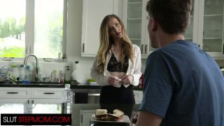 Hot Step Mom Karla Kush Seduces Step Son While His Dad Is Away porn image