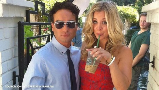 Johnny Galecki sullenly dropped 'Um.'  as the former Kaley Cuoco celebrates Valentine's Day