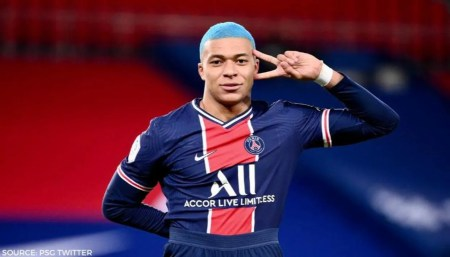 Kylian Mbappe Dons New Hairstyle, Sums It Up With Goal Against Lorient:  WATCH