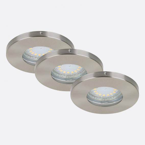 briloner set of 3 led recessed lights round non adjustable