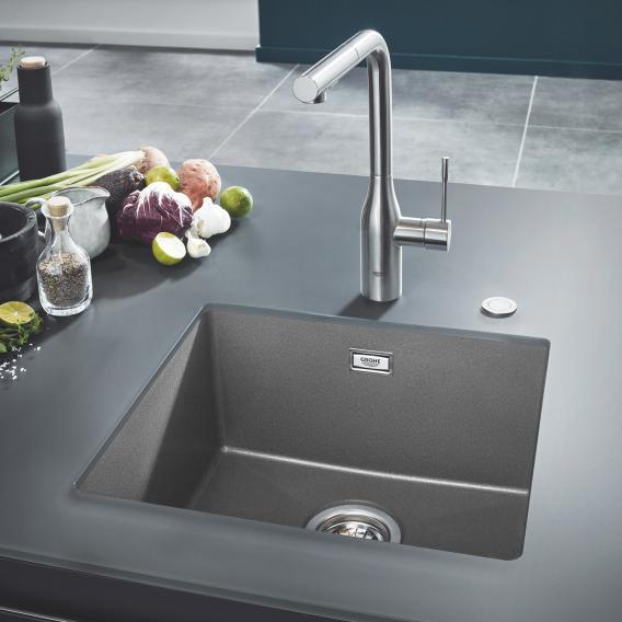 grohe k700u undermount sink granite grey