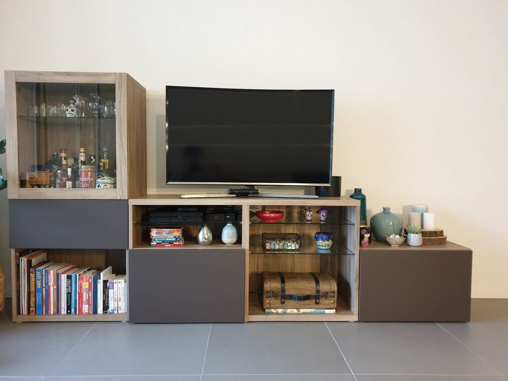 meuble tv ikea besta excellent etat