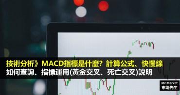 技術分析》什麼是MACD指標?MACD計算公式?MACD背離、黃金交叉等指標運用