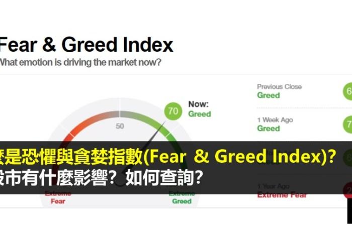 什麼是恐懼與貪婪指數(Fear & Greed Index)?對股市有什麼影響?如何查詢?