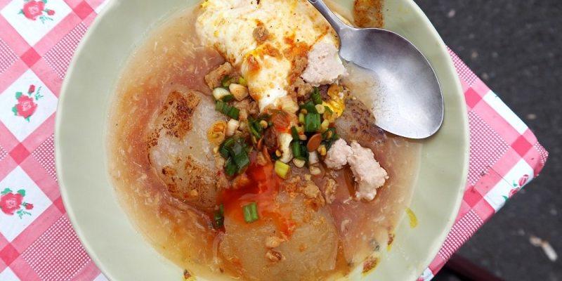 台南肉粿 四十五年台南美食 大灣三王廟肉粿、阿婆肉粿 軟綿滑 可素食 台南早餐
