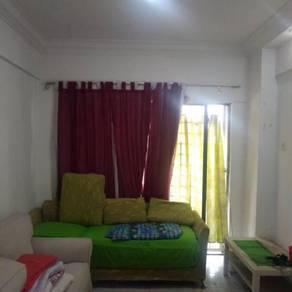 ixora apartment partly furnish wangsa permai kepong kl for rent 1000