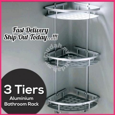 3 tier shelf aluminium bathroom wall rack 28 bed bath for sale in others melaka mudah my