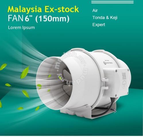 6 silent inline duct fan exhaust fan blower home appliances kitchen for sale in setia alam selangor mudah my