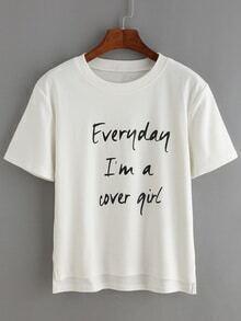 camiseta dip hem letras recorte-blanco