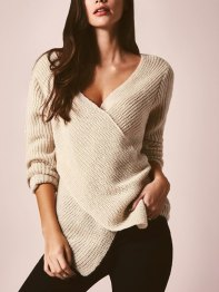 Apricot+V+Neck+Cross+Front+Sweater+23.35