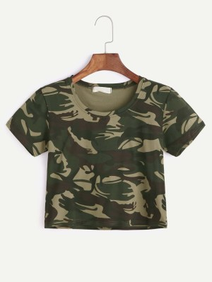Camoflage Crop Top