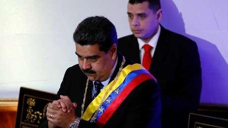 El presidente de Venezuela, Nicolás Maduro, durante una sesión especial de la Asamblea Nacional Constituyente en Caracas, 14 de enero de 2019.