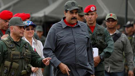 Maduro en un ejercicio militar en la base militar de Fuerte Tiuna en Caracas, 24 de febrero de 2018.