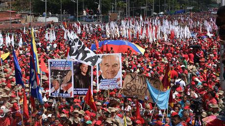 Multitudinaria marcha en apoyo al presidente de Venezuela, Nicolás Maduro. Caracas 2 de febrero de 2019.