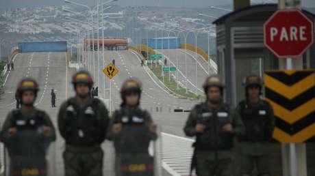 El puente transfronterizo Las Tienditas entre Colombia y Venezuela. 8 de febrero de 2019