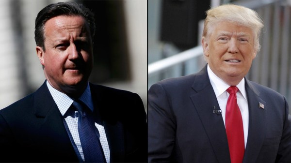 Hedging bets? Cameron leads Trump charm offensive … in ...