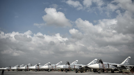 Russian Su-24 tactical bombers at the Hmeimim airbase in the Latakia Governorate of Syria. © Ramil Sitdikov