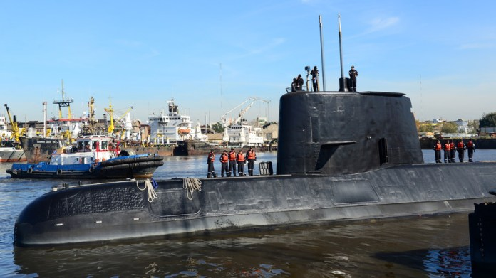 Argentine submarine 'chased by British helicopter' before disappearing