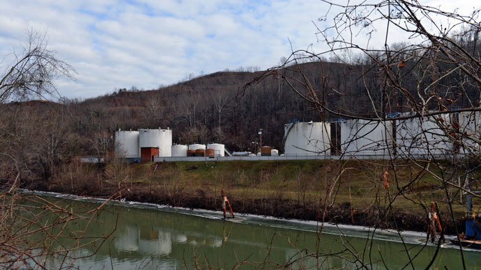 Freedom Industries on Barlow St on the banks of the Elk River is seen on January 10, 2014 in Charleston, West Virginia.(AFP Photo / Tom Hindman)