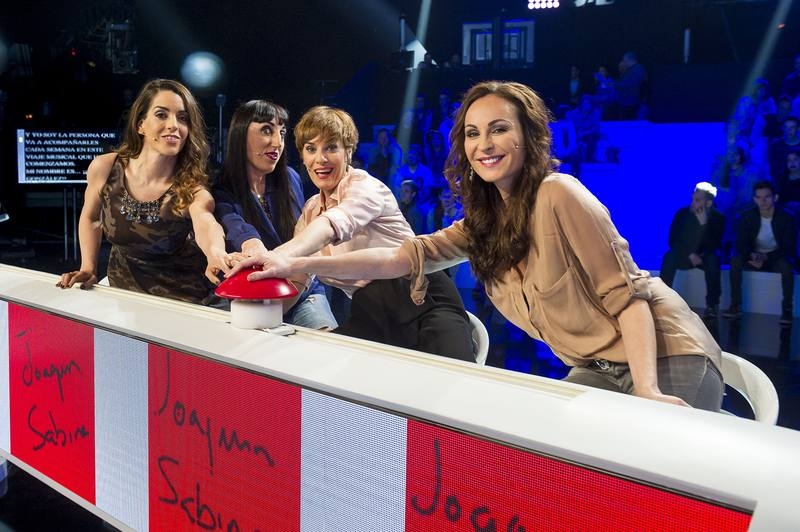 Anabel Alonso, Ruth Lorenzo, Rossy de Palma y Ana Milán, en el primer programa.