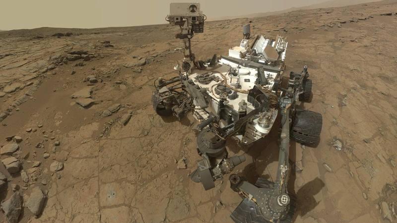 Fotografía cedida por la NASA que muestra un autorretrato del rover Curiosity.