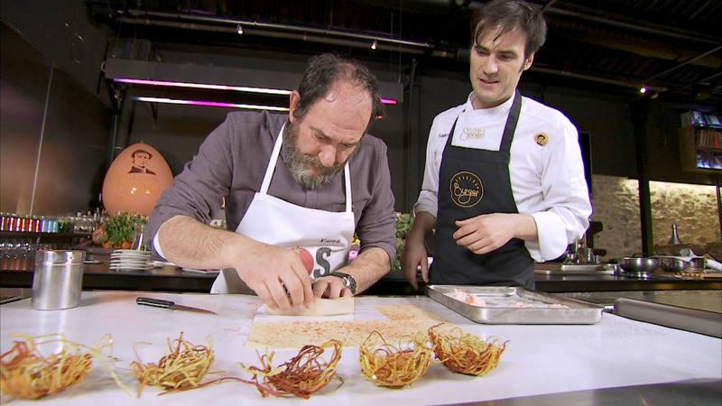 En el restaurante Sagartoki de Vitoria, Senén y Karra se pondrán el delantal para mostrar dos platos elaborados con gallina