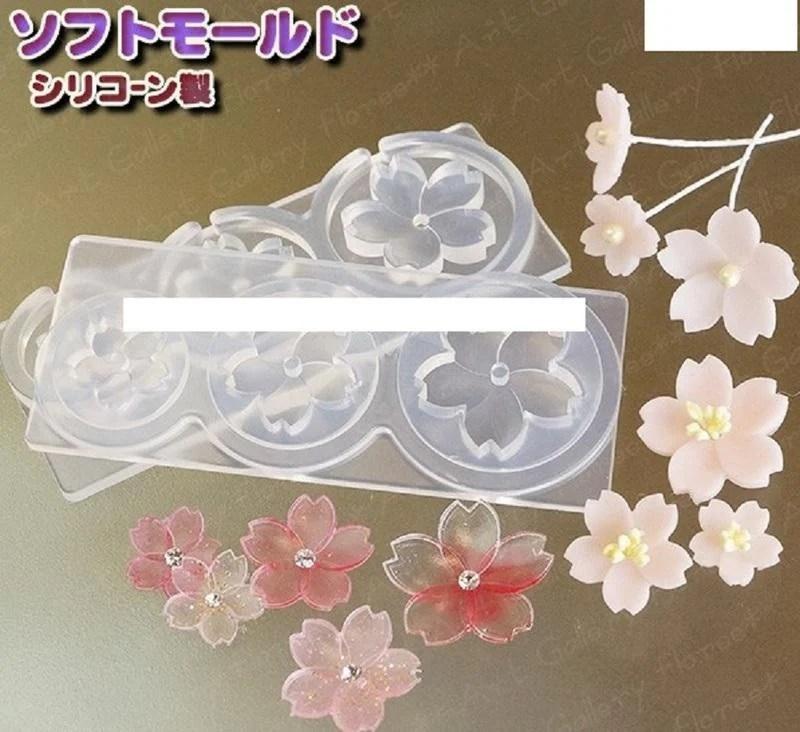 粉紅豬 ~【日本進口】UV膠 UV樹脂 UV滴膠 滴膠 滴膠模 UV膠模 灌膠 黏土 軟模 模具 模型 立體櫻花 櫻花 - 露天拍賣